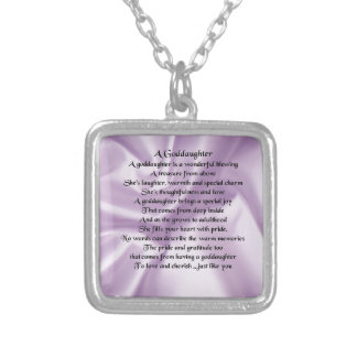 Lilac Silk Goddaughter Silver Plated Necklace