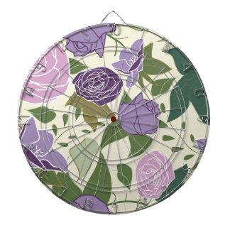 lilac silk roses dartboard
