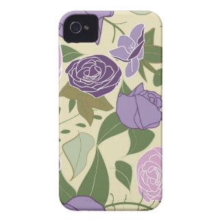 lilac silk roses iPhone 4 Case-Mate case