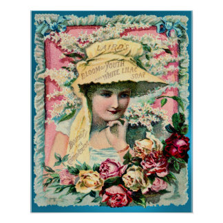 Lilac Soap Lady Vintage Advertisement Poster