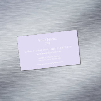 Lilac Solid Color Magnetic Business Cards (Pack Of 25)