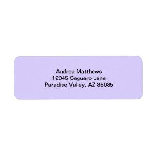 Lilac Solid Color Return Address Label