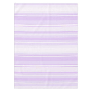 Lilac stripes tablecloth