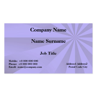 Lilac Sunbeams Card Double-Sided Standard Business Cards (Pack Of 100)