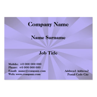 Lilac Sunbeams Card Pack Of Chubby Business Cards