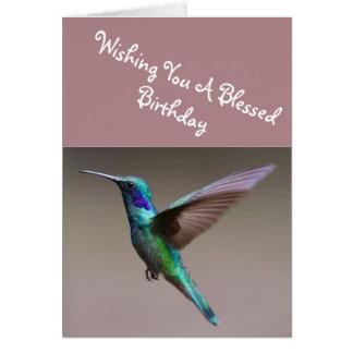 Lilac Sunbird  Birthday Greeting Card