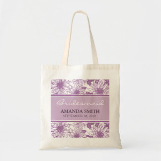 Lilac Sunflowers Personalised Wedding Party Bag