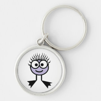 Lilac Swim Character Key Ring Silver-Colored Round Key Ring