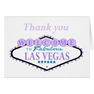 Lilac Thank you Las Vegas Cards