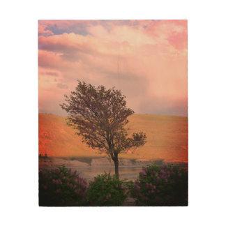 Lilac Tree Wood Art