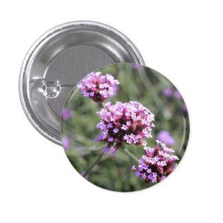Lilac Verbena Flower Sprig 3 Cm Round Badge