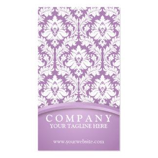 Lilac Violet Damask Business Card