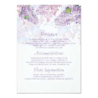 Lilac Watercolors Wedding Information Guest Card