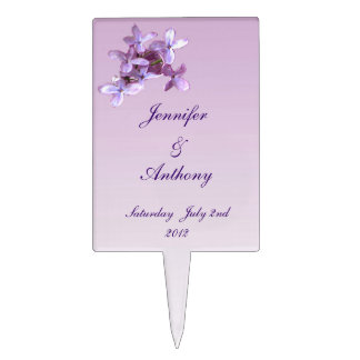 Lilac Wedding Cake Toppers