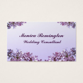 Lilac Wedding Consultant Business Card