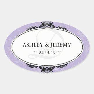 Lilac Wedding Favor Stickers