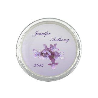 Lilac Wedding Photo Rings