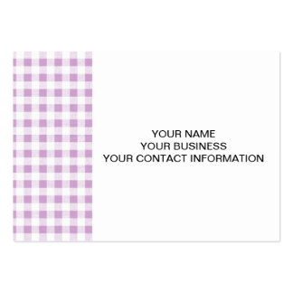 Lilac White Gingham Pattern Business Card Template