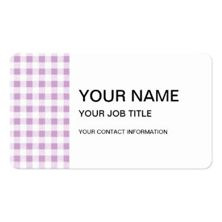 Lilac White Gingham Pattern Business Card