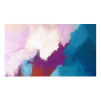 Lilac with Aqua Modern Abstract Painting - KT 2013 Double-Sided Standard Business Cards (Pack Of 100)