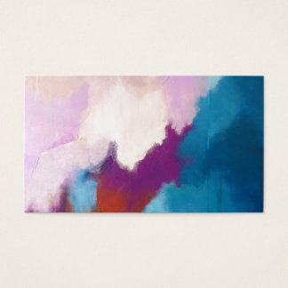 Lilac with Aqua Modern Abstract Painting - KT 2013 Business Card