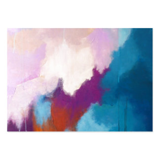 Lilac with Aqua Modern Abstract Painting - KT 2013 Large Business Cards (Pack Of 100)