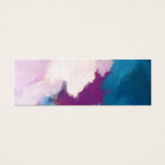 Lilac with Aqua Modern Abstract Painting - KT 2013 Mini Business Card
