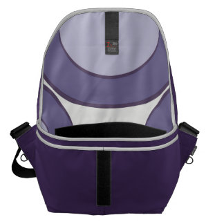 LilacInPurple Dots Courier Bag