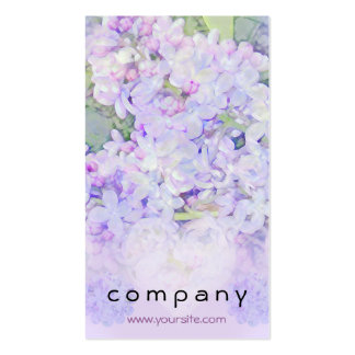 Lilacs and Hearts Business Card Templates