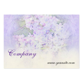 Lilacs and Hearts Business Card Template