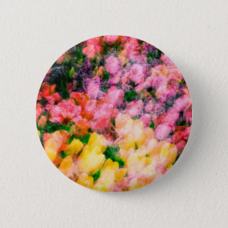 Lilacs and Tulips 6 Cm Round Badge