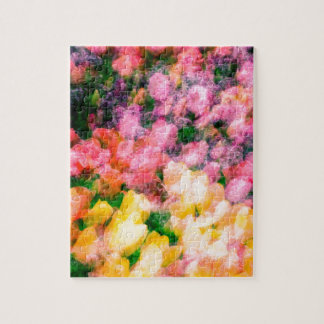 Lilacs and Tulips Jigsaw Puzzle