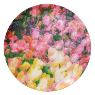 Lilacs and Tulips Plate