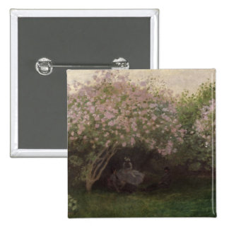 Lilacs, Grey Weather, 1872 15 Cm Square Badge
