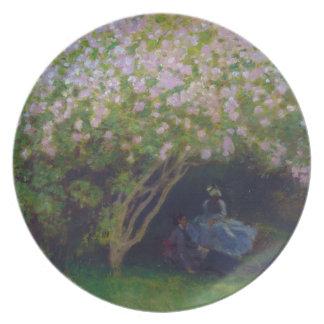 Lilacs, Grey Weather Claude Monet Plate