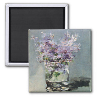 Lilacs in a Glass by Edouard Manet Refrigerator Magnet