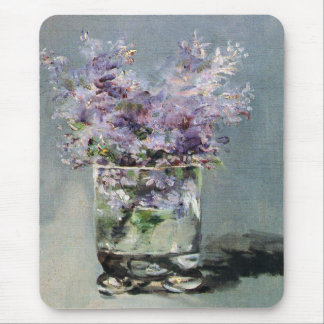Lilacs in a Glass by Edouard Manet Mousepad