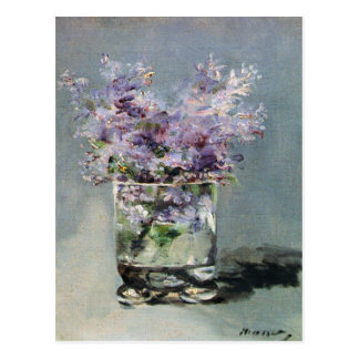 Lilacs in a Glass by Edouard Manet Postcard