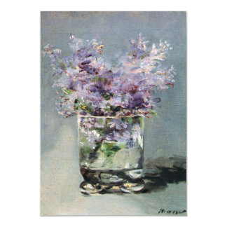 "Lilacs in a Glass by Manet Bridal Shower 5"" X 7"" Invitation Card"