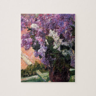 Lilacs in a Window by Mary Cassatt Jigsaw Puzzle