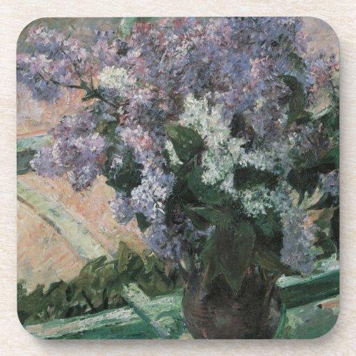Lilacs in a Window, Cassatt, Vintage Impressionism Coaster
