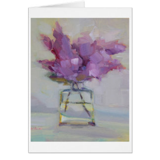 Lilacs in Glass Vase Card