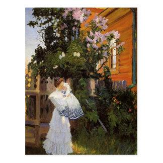 Lilacs in Sun Postcard