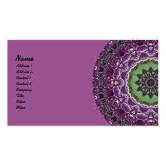Lilacs Kaleidoscope Business Card Template