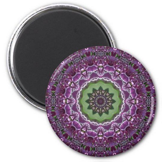 Lilacs Kaleidoscope Magnet