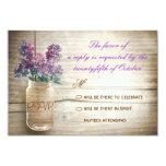 lilacs mason jar vintage wedding rsvps invites
