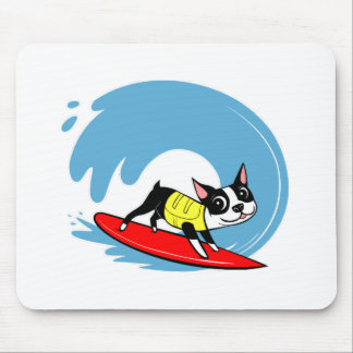 Lili Chin Surfing Boston Collection Mouse Pad