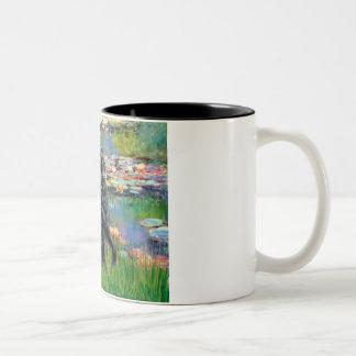 Lilies 2 - Flat Coated Retriever Mug