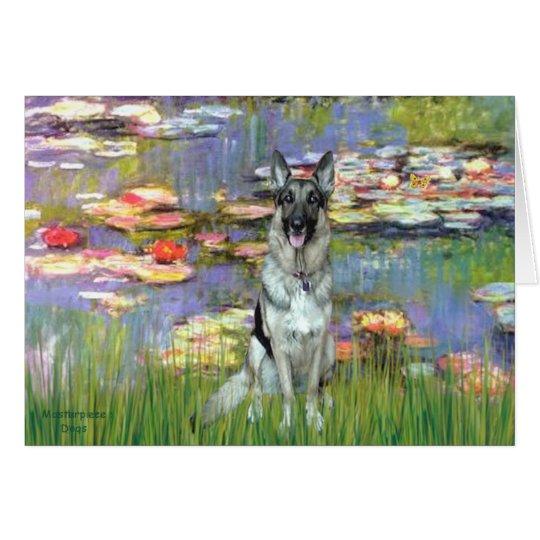Lilies 2 - German Shepherd 12 Card