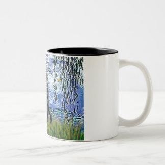 Lilies 6 - Flat Coated Retriever 2 Mug